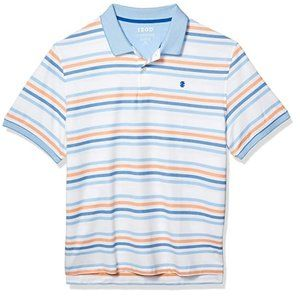 IZOD Advantage Performance Striped Polo Shirt  L